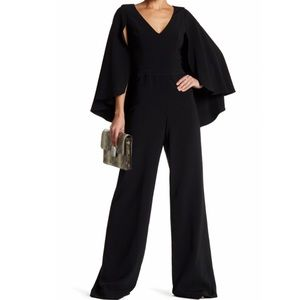 Jay Godfrey Milan Cape Jumpsuit Black